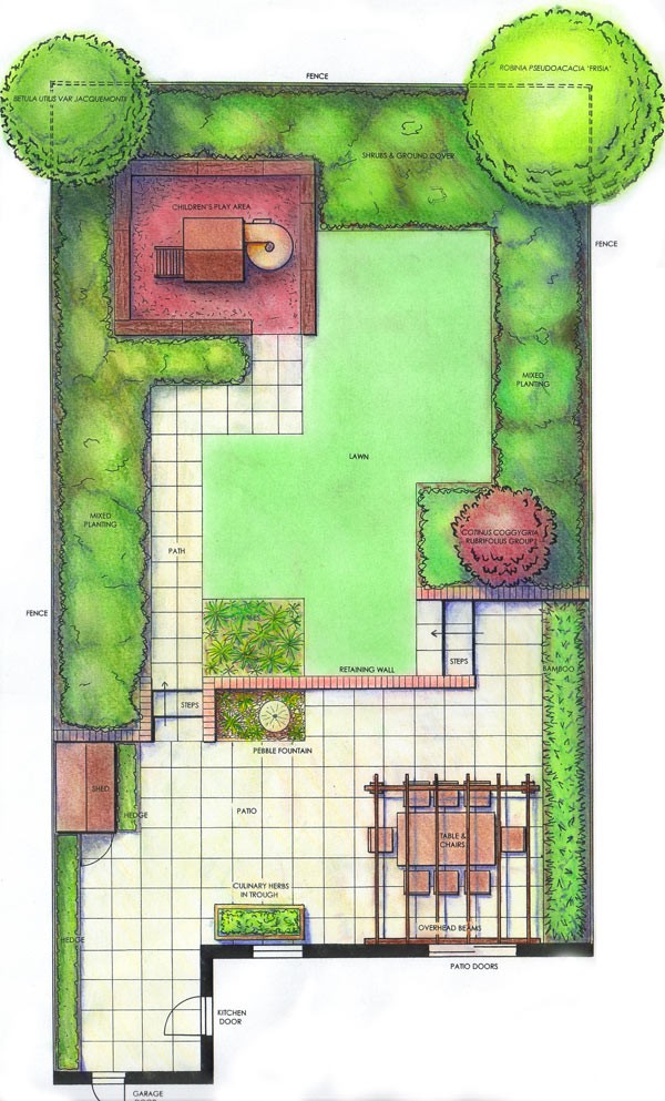Garden Design And Planning Design Recent Projects Family Garden Plan View Family Garden Plan View