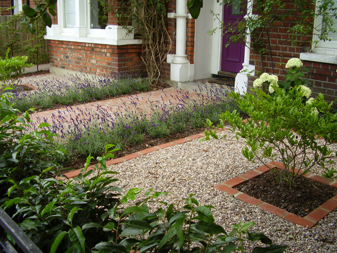 21 extraordinary landscape designs for front gardens for Formal front garden ideas