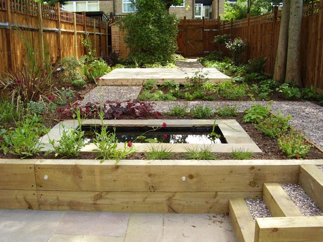 Patio ideas for a small yard landscaping gardening ideas - Split Level Low Maintenance Garden Tim Mackley Garden Design